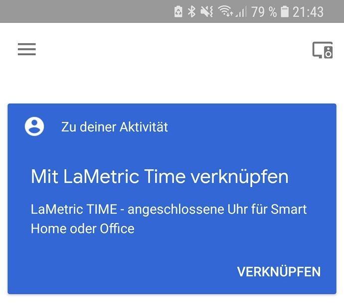 Lametric Time Ghome