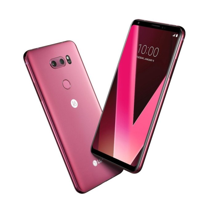 Lg V30 Rasperry Rose Header