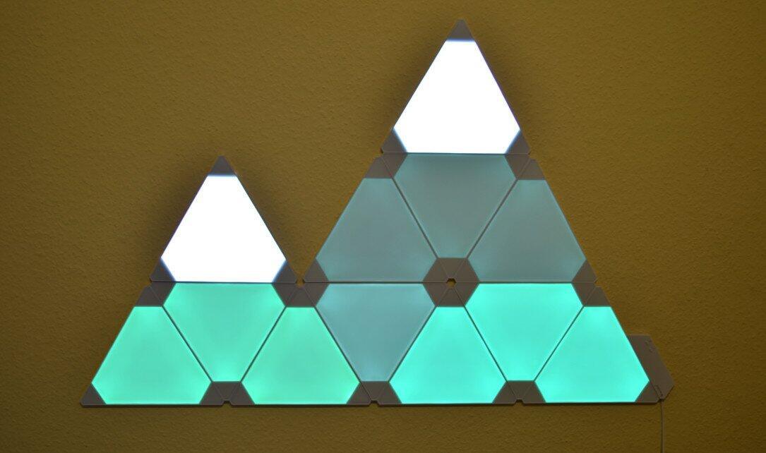 Nanoleaf Aurora Fertige Installation