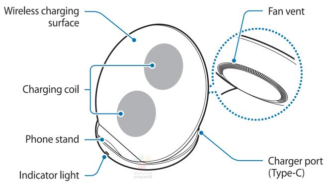 Samsung Wirless Charger Stand Zeichnung