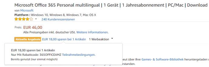 Amazon Office 365