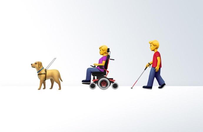 Apple Emoji Behinderung 2019