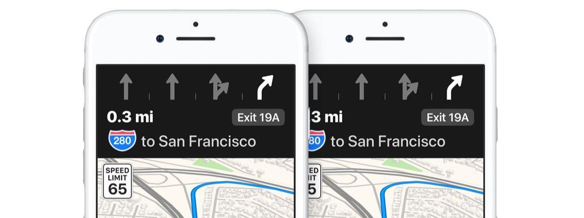 Apple Karten Maps Lane Guide