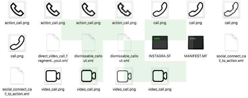 Instagram Telefon Video Icons