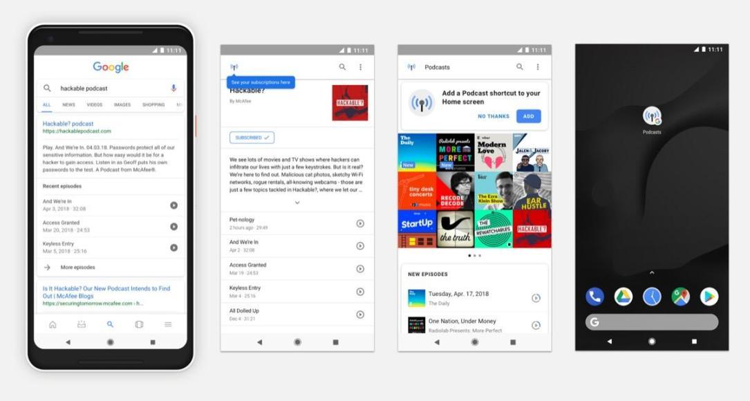 Google Podcasts Suche