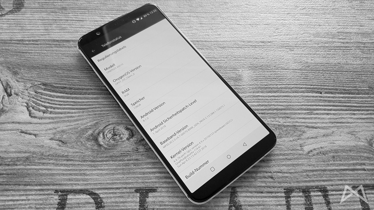 Oneplus 5t Sandstone White Android Version