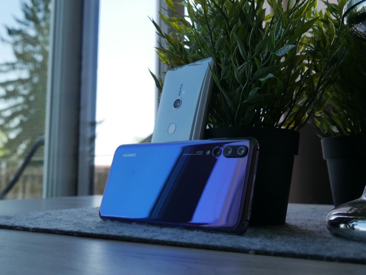 Sony Xperia Xz2 Huawei P20 Pro Vgl1