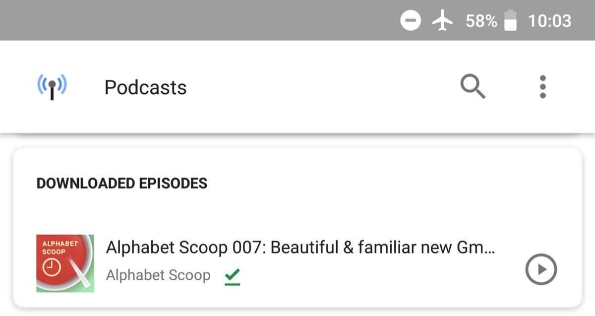 Google App Podcasts Offline