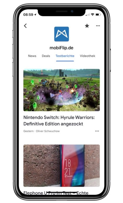 Mobiflip Google News