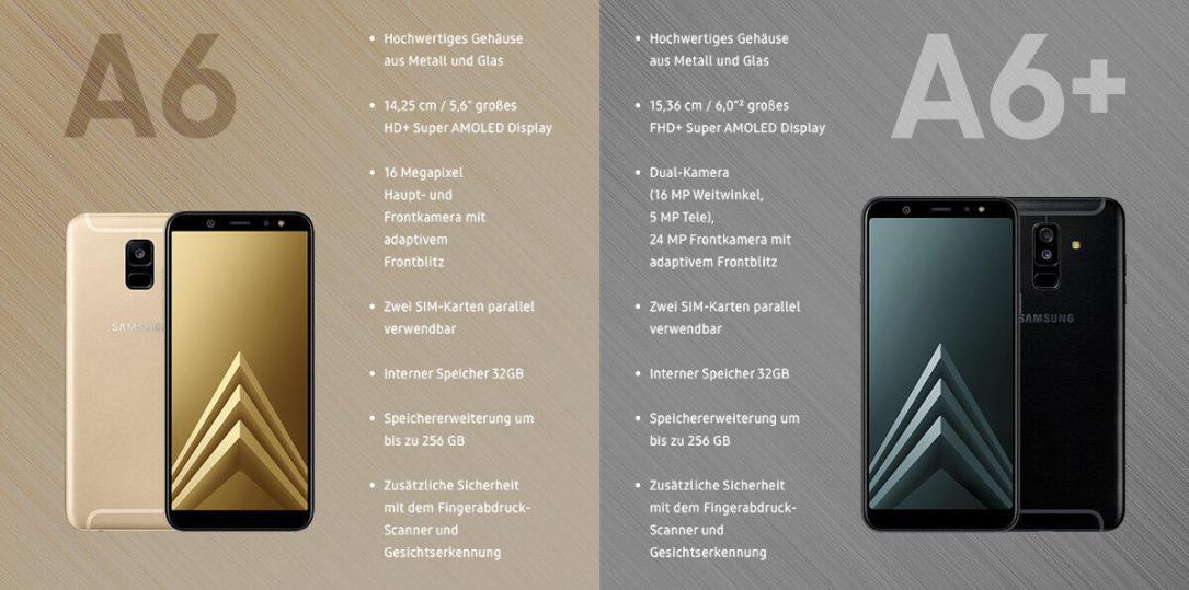 Samsung Galaxy A6 Vergleich