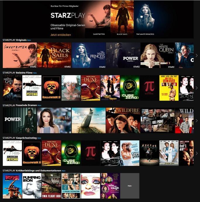 Starzplay Prime Video Channels De