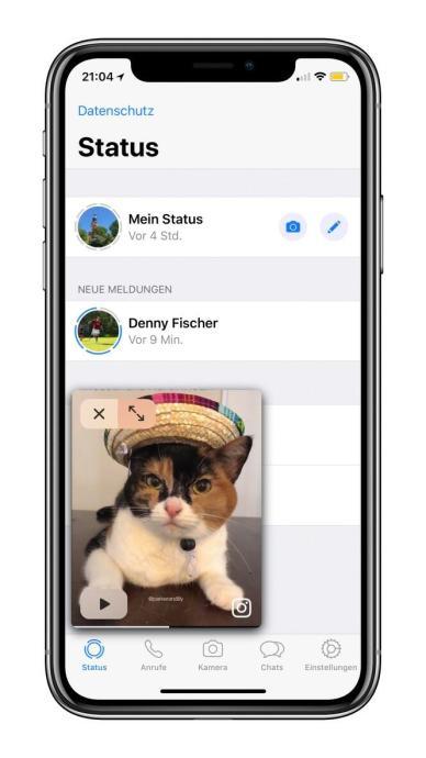 Whatsapp Ios Bild In Bild Insta Video