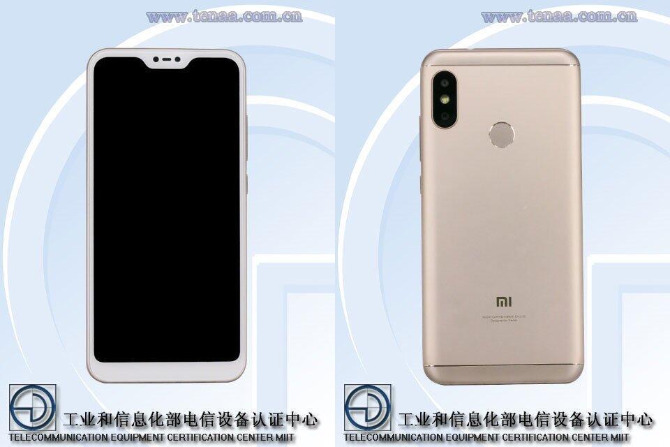 Xiaomi Redmi 6 Pro Tenaa