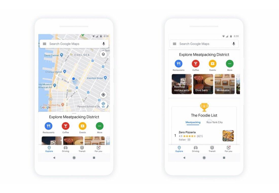 Google Maps Erkunden