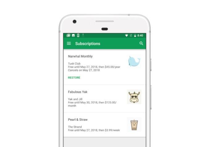 Google Play Store Abos Header
