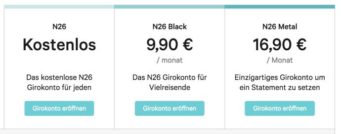 N26 Kosten