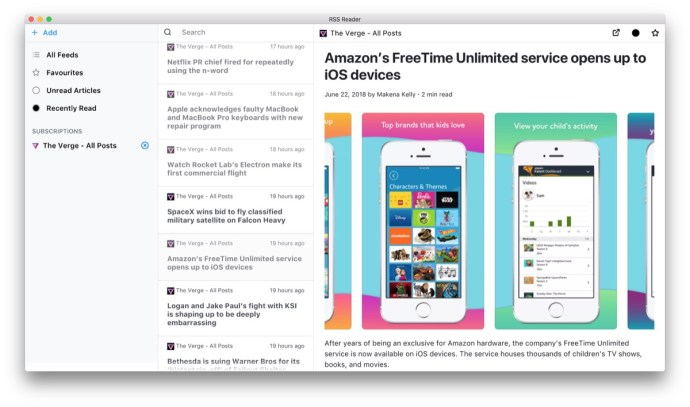 Screenshot Rss Reader