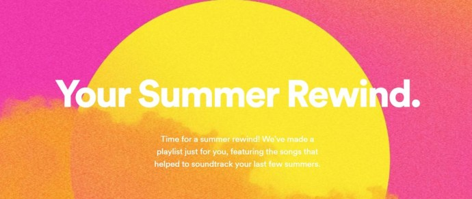 Spotify Your Summer Rewind 2018