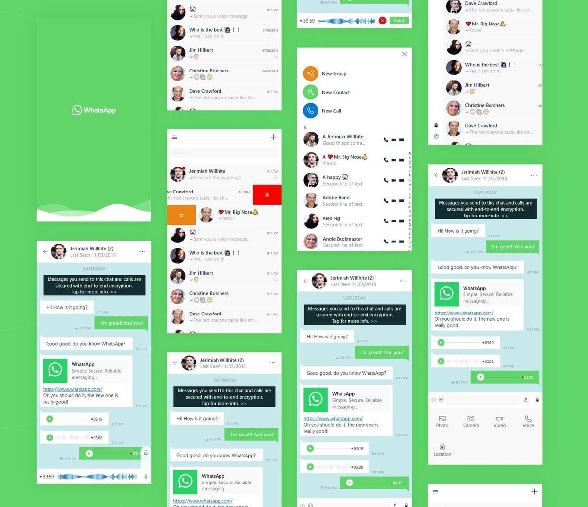 Whatsapp Uw App Konzept