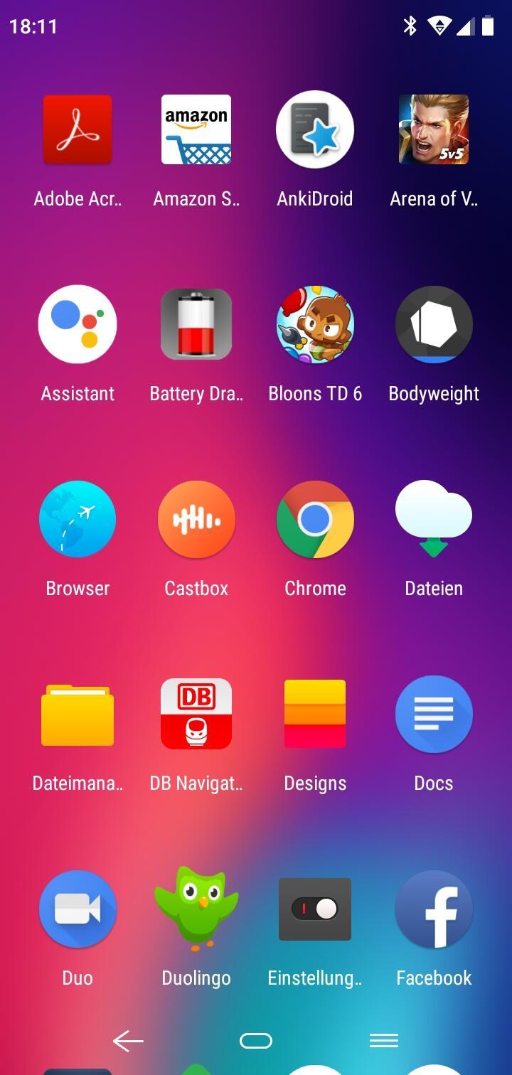 Elephone A4 App Drawer