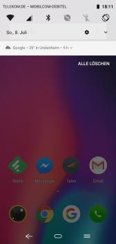 Elephone A4 Notifications