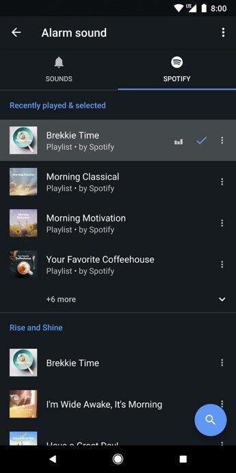 Goole Uhr Spotify