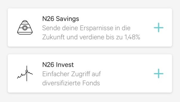 N26 Savings Invest