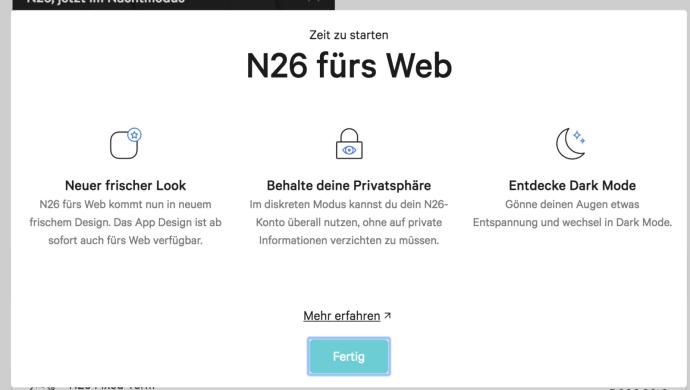 N26 Web