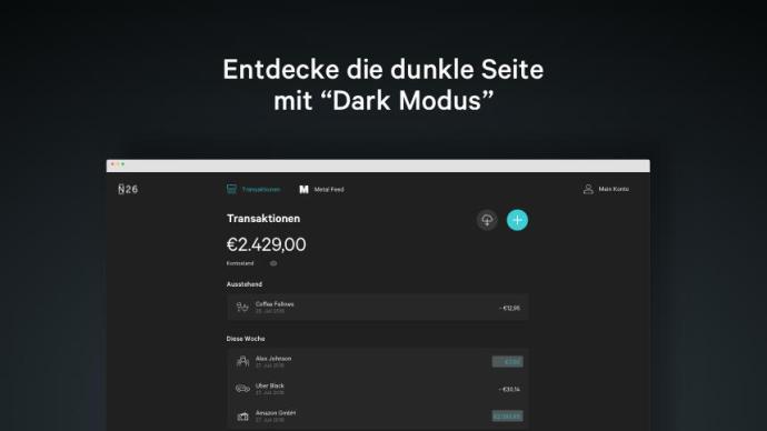 N26 Web App Blog Body Dark Mode De