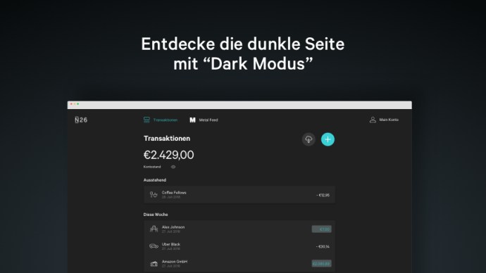 N26 Web App Blog Body Dark Mode De