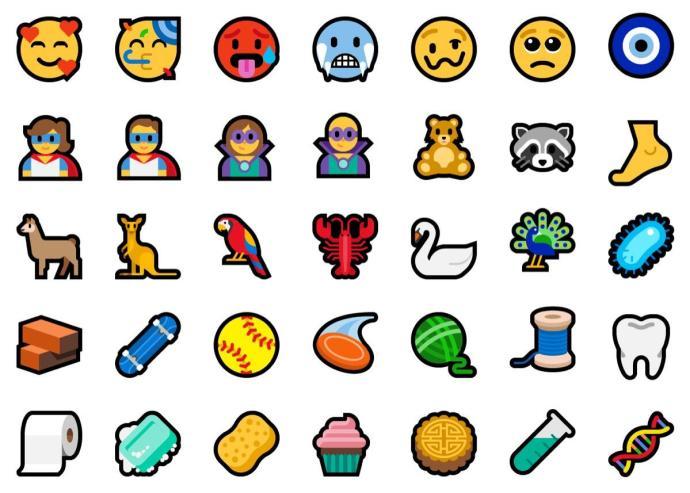 Windows 10 Emoji 2018