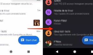 Android Messages Dark
