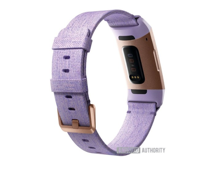 Fitbit Charge 3 Back Lila