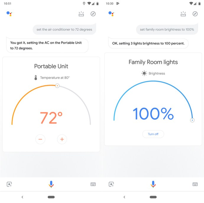 Google Assistant Visual Controls