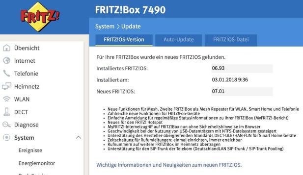 Fritzbox 7490 Fritzos 7