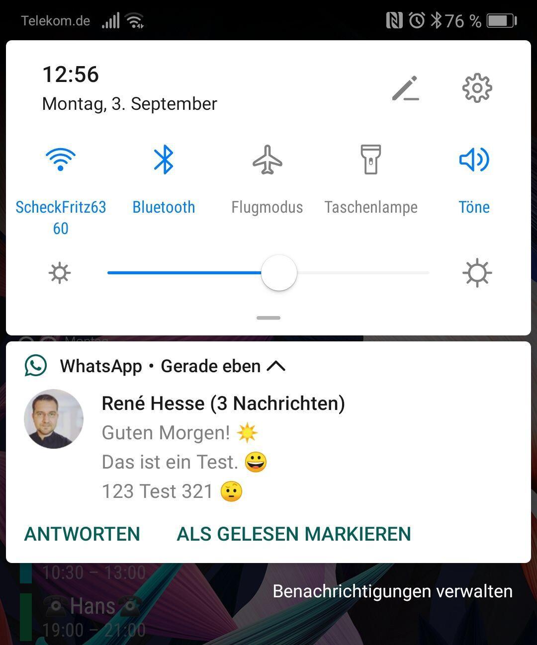 Huawei P20 Pro Android 9 Beta Notifications Whatsapp 2018 09 03 12.56.45
