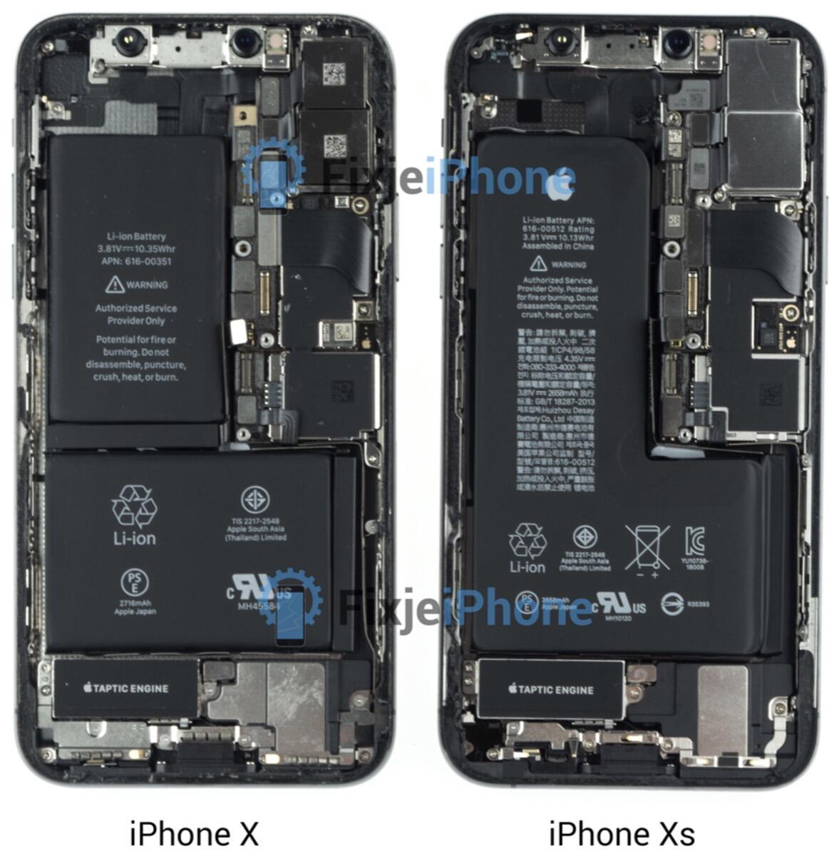 Iphone Xs Teardown Vs