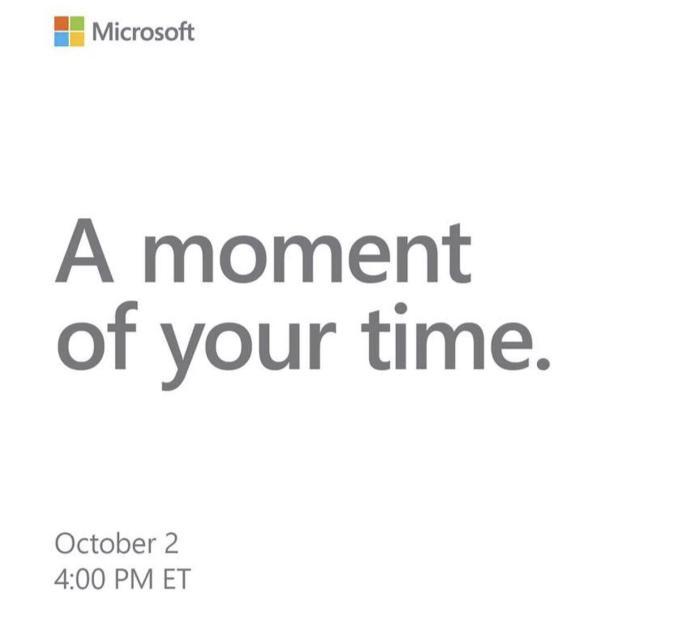 Microsoft Surface Oktober