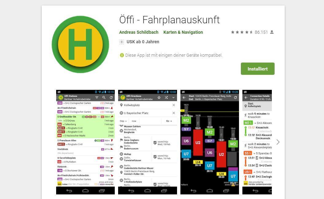 Oeffi Play Store Breit