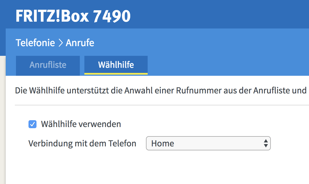 Waehlhilfe Chrome Fritzbox 3