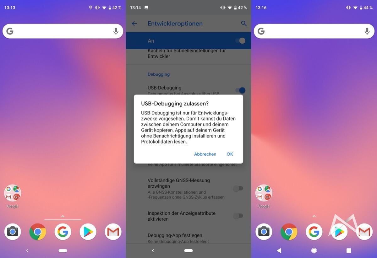 Google Pixel 3 Gestensteuerung Anleitung