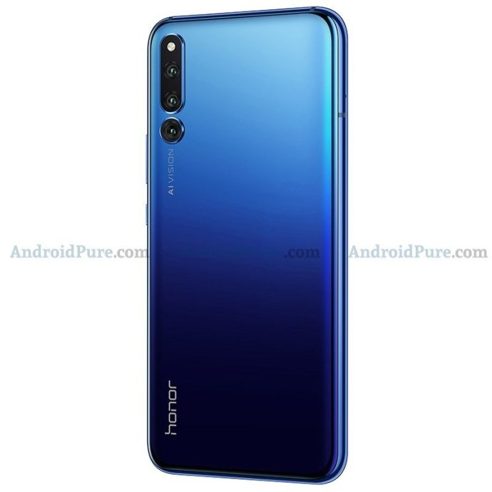 Honor Magic 2 Blau Back