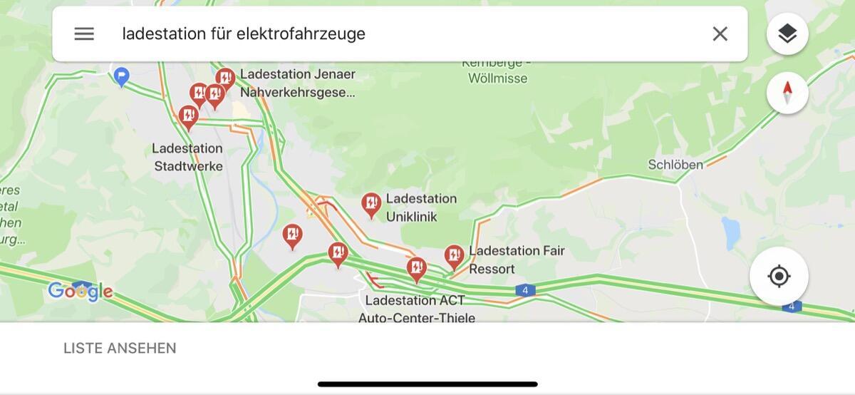 Maps Google Elektro Stationen