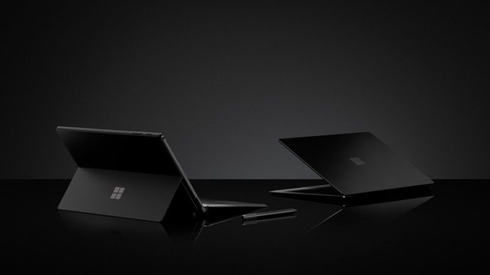 Microsoft Surface Schwarz Header