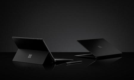 Microsoft Surface Schwarz Header