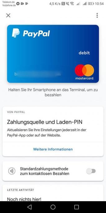 Paypal Google Pay Start