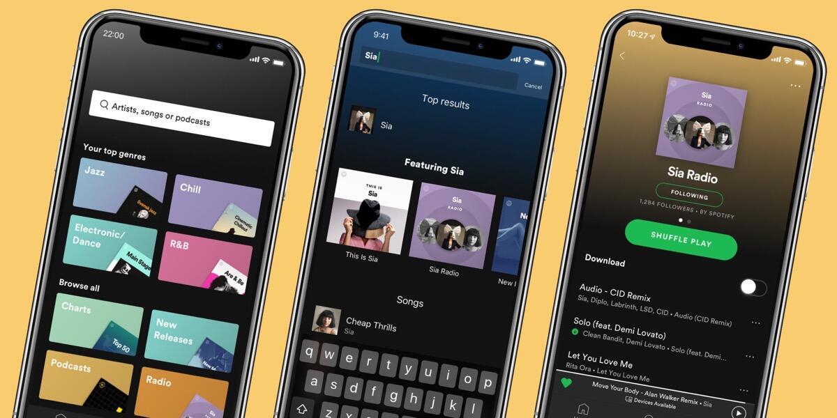 Spotify Premium Header