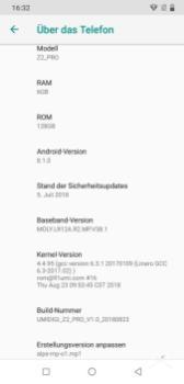 Umidigi Z2 Pro Software 2018 09 30 16.32.58