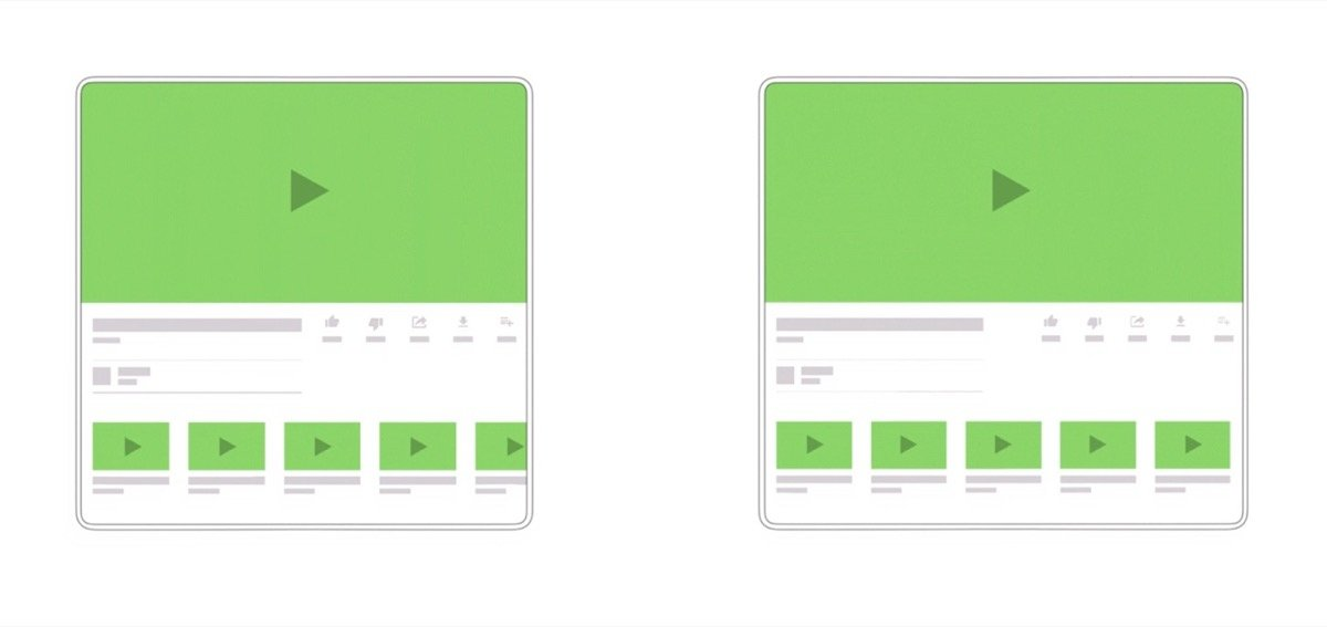 Android Google Displays Flatbar Offen