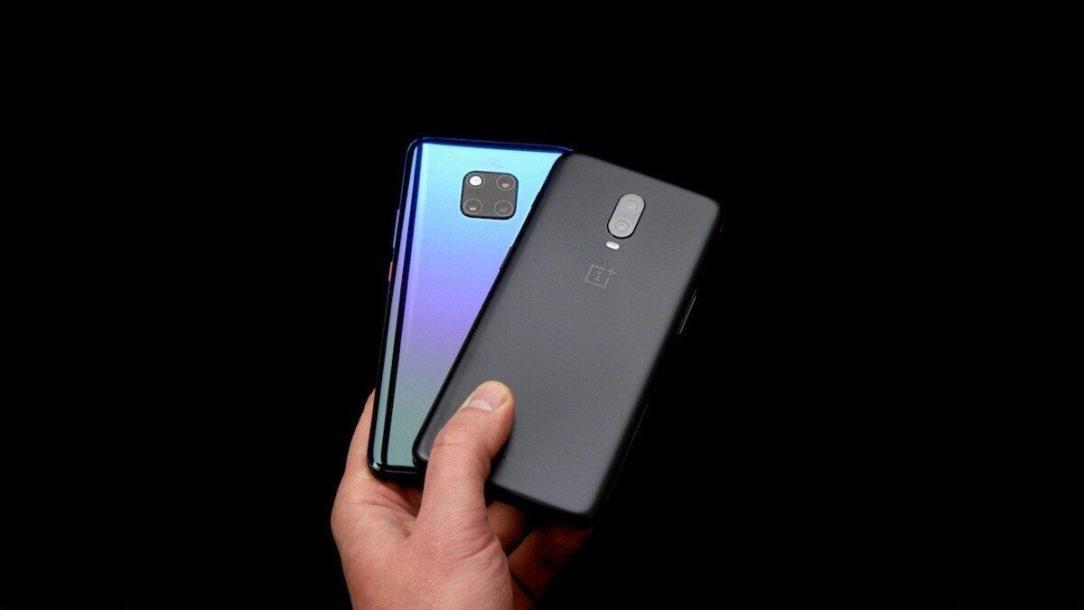 Huawei M20p Oneplus 6t Header